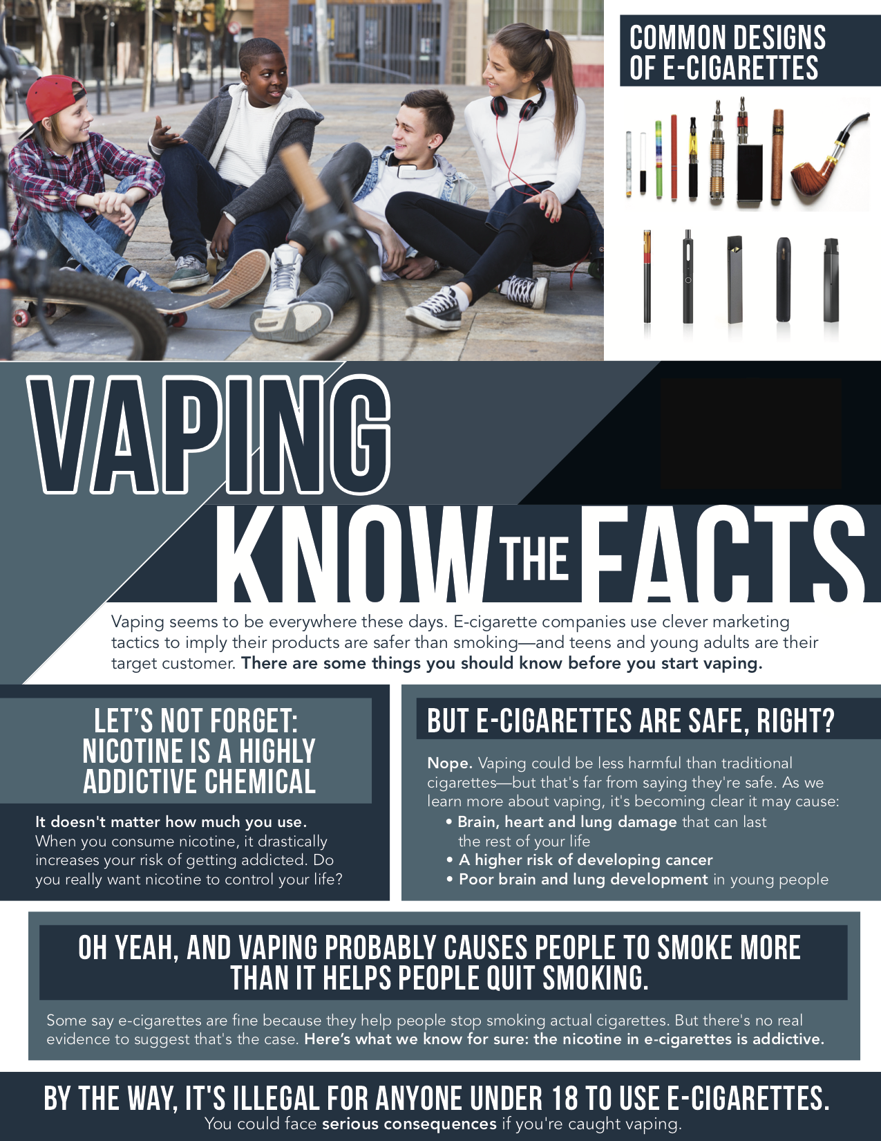 vaping facts flyer