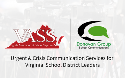 Donovan Group Partners with VASS to Offer Crisis Communication Services to Virginia School Districts